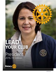 Front cover of the Club President's Manual